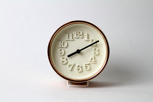 Chiisana Copper Table Clock by Riki - Lemnos