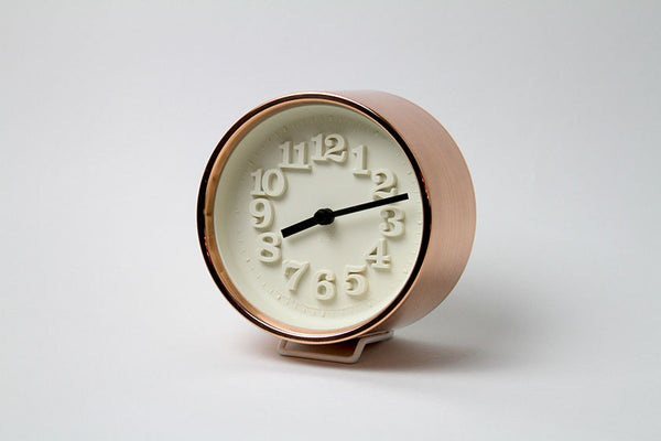 Chiisana Copper Table Clock by Riki - Monolier