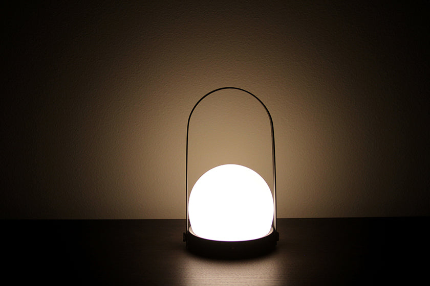 Carrie Portable Glass LED Lamp - Menu