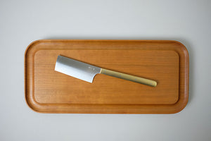 Azmaya Brass Handle Cheese Knife