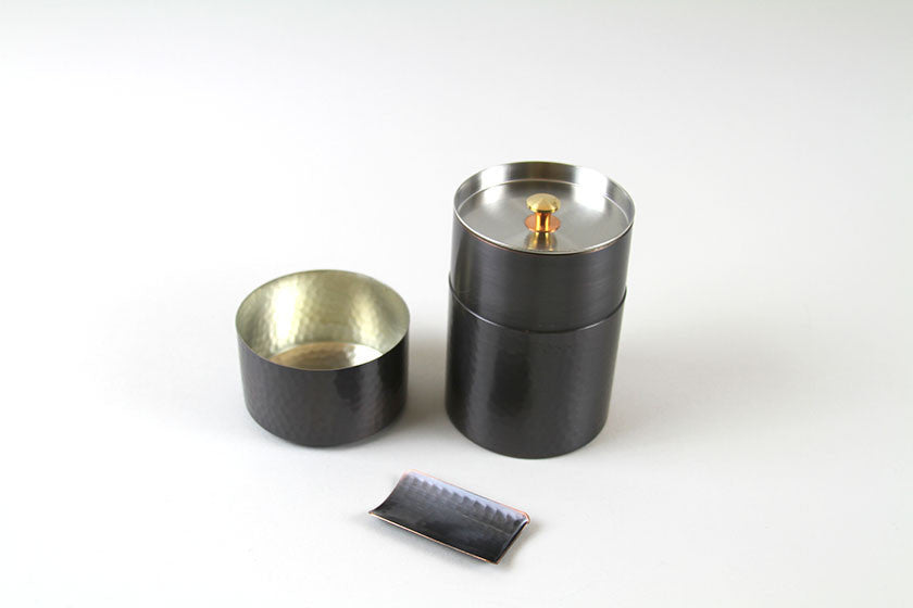 Japan Hammered Copper Loose Tea Leaf Canister