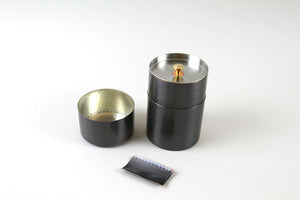 Hammered Copper Loose Tea Leaf Canister - Japan
