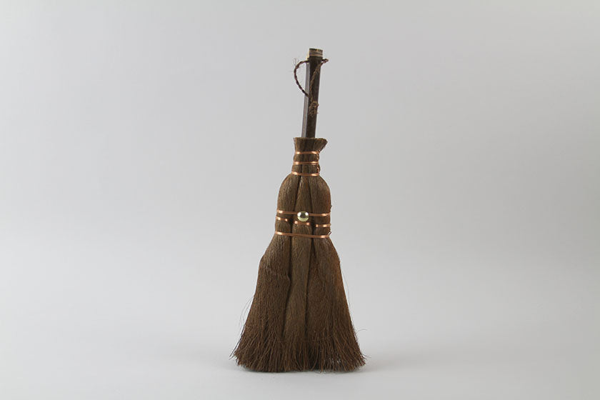 Hemp-Palm Brooms with a Bamboo Handle