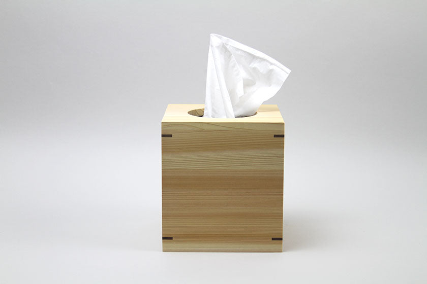 Hinoki Tissue Box Cube