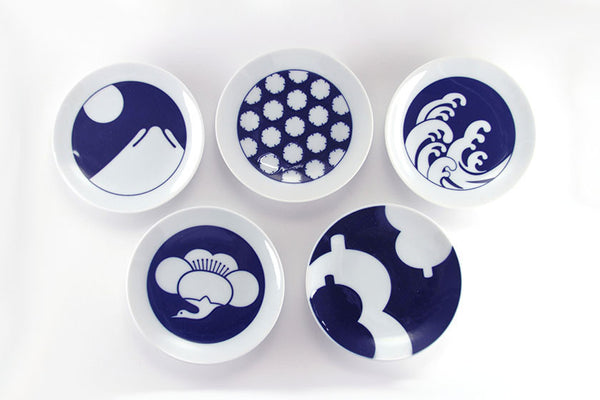 Kihara Komon Japanese Imari Porcelain Plate (Set of 5)
