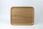 Nonslip Rectangular Wood Tray