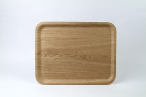 Nonslip Rectangular Wood Tray - Kinto