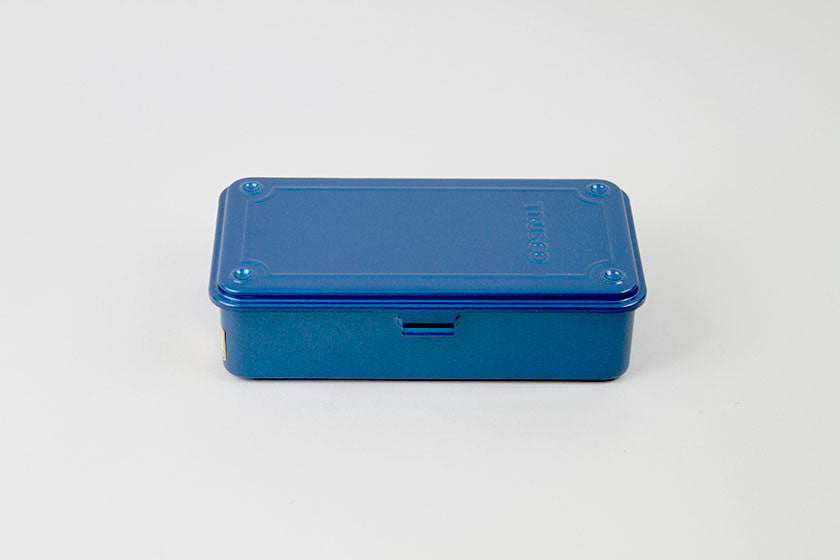 Trusco Blue Enamel Storage Box