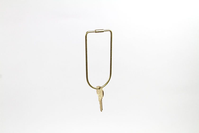 Contour Brass Key Ring - Monolier