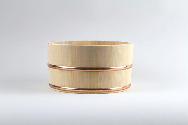 Hinoki Cypress Bucket with Copper Rings