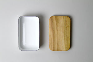 Enamel Butter Case With Wood Lid - Noda Horo