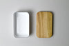 Noda Horo Enamel Butter Case Wood Lid