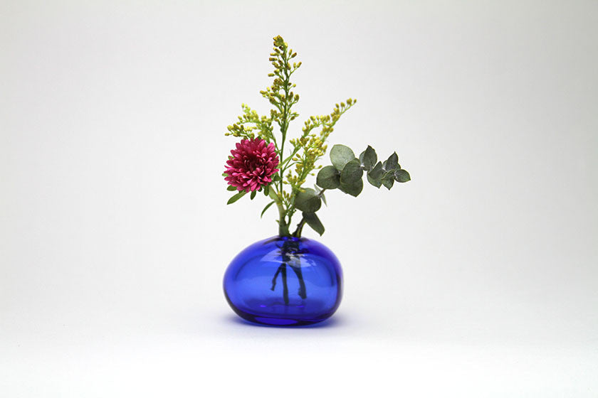 Sugahara Flower Bud Vase Riverstone - Cobalt Blue - Sugahara