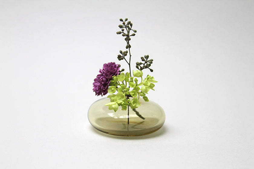 Flower Bud Vase Round - Tan