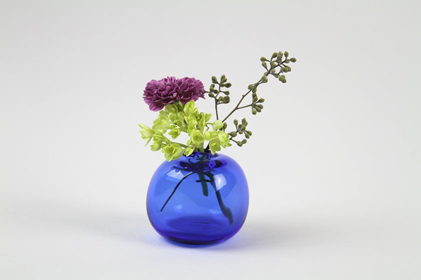 Sugahara Flower Bud Vase Square - Cobalt Blue