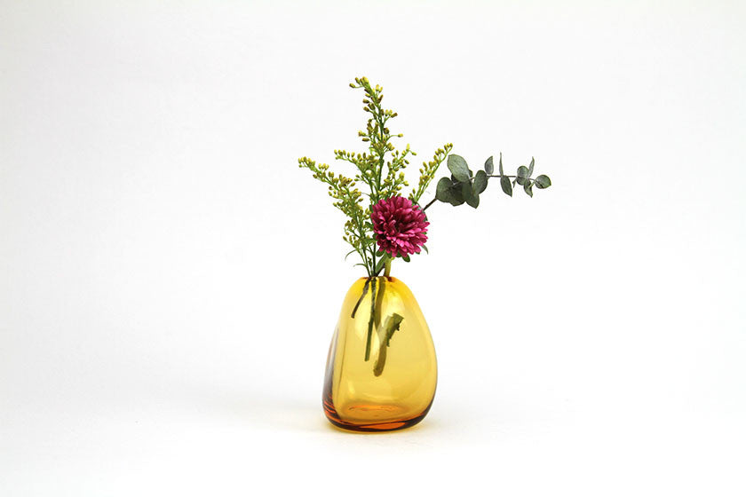 Sugahara Flower Bud Vase Vertical - Amber - Sugahara