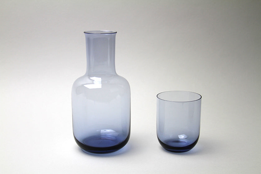 Toyo-Sasaki Glass Night Carafe Blue