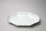 Mizu-Mizu Tsudoi Long Rinka Flower Bowl with Bluish White Glaze
