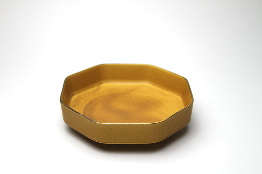 Mizu-Mizu Tsudoi Octagonal Bowl with Mustard Yellow Glaze