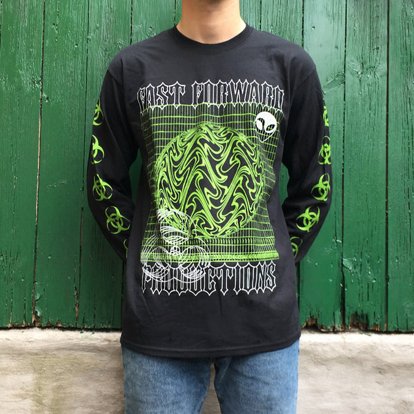 Long sleeve green t-shirt