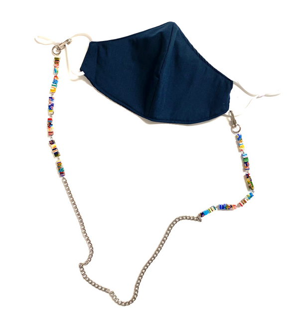 Face Mask Chain with Colorful Beads