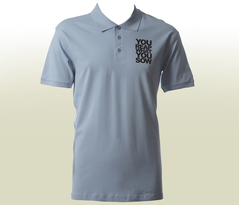 """You Reap What You Sow"" Polo - Blue"
