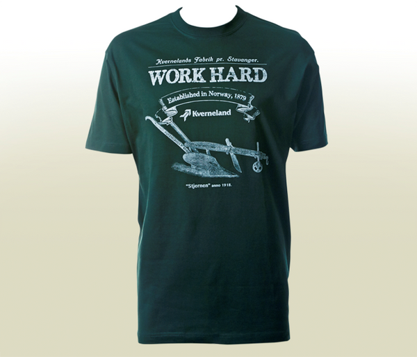"""Work Hard"" T-Shirt - Dark Green"