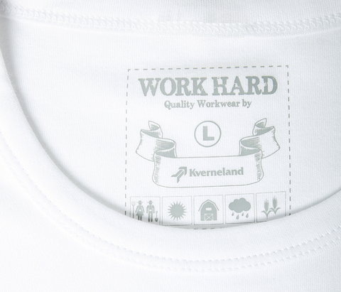 Plain T-Shirt With Kverneland Logo - White