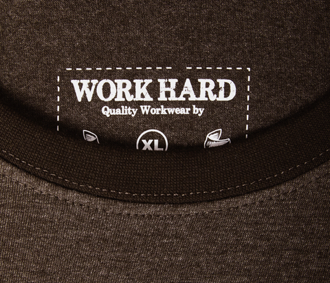 """Work Hard"" Mélange T-Shirt - Anthracite"