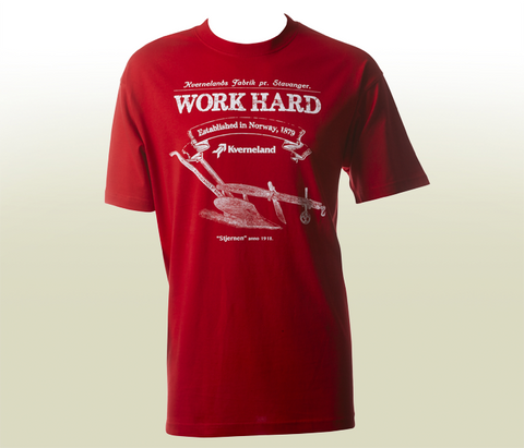 """Work Hard"" T-Shirt - Red"