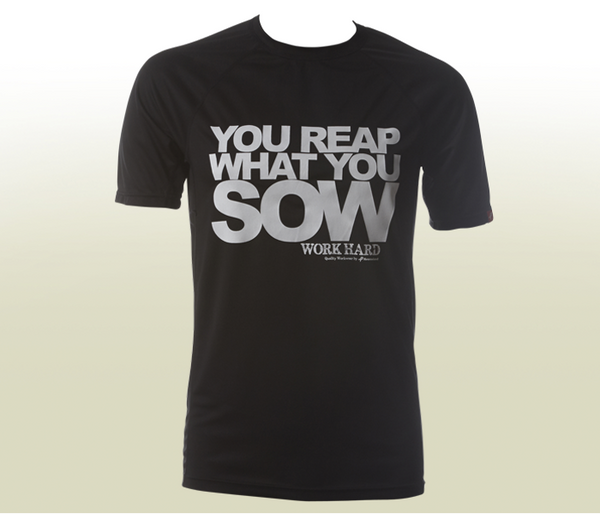 """You Reap What You Sow"" Functional T-Shirt - Black"