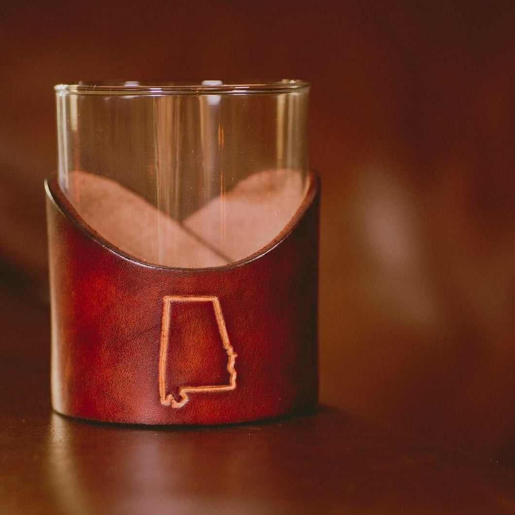 12.5 oz Lowball Whiskey Glass with States