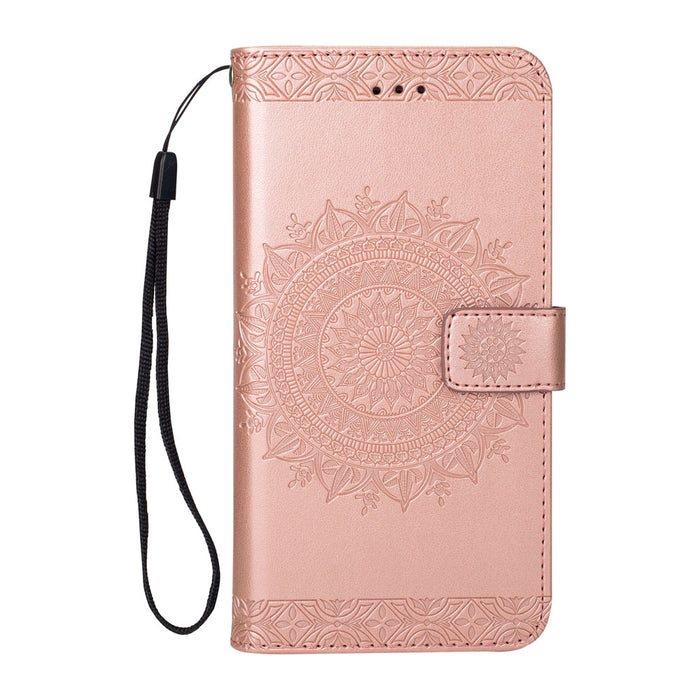 Totem Design Embossed Wallet Flip PU Leather Card Holder Standing Phone Case for iPhone 7 Plus/8 Plus 5.5 Inch