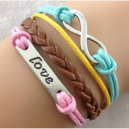 Love Always Colorful Bracelet  (Ships From USA)