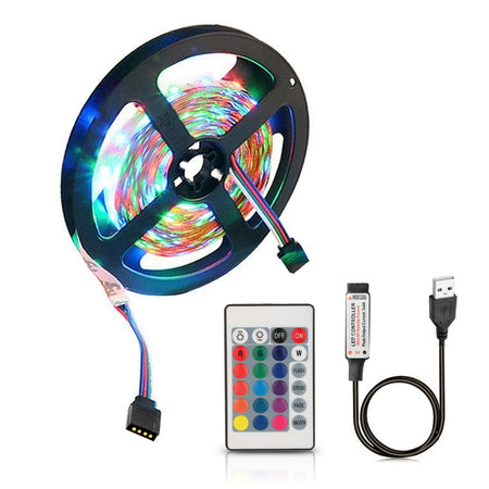 ZDM  USB 5V Flexible Discoloration RGB 2835 LED String Lamp with Remote Control