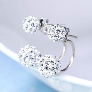 Female Fashion Minimalist Princess Diamond Earrings