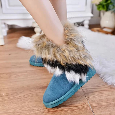 Warm Winter Womens Fur Boots