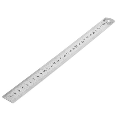 Stainless Steel Straight Ruler 30CM Staionary Home Handtool for Drawing Charting Painting