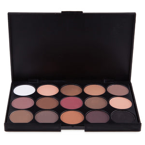 Natural 15 Colors Long Lasting Makeup Eyeshadow Palette 50pcs / Pack