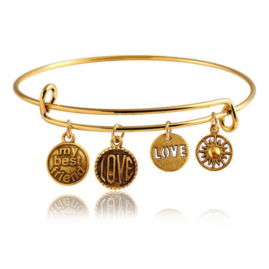 Best Friend Charm Bangle  (Ships From USA)