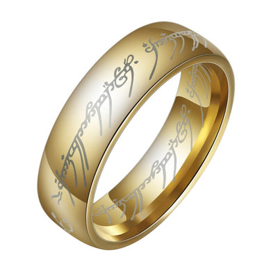 Fashion The Lord of The Rings for Men 18K Gold Plating Stainless Steel Jewelry