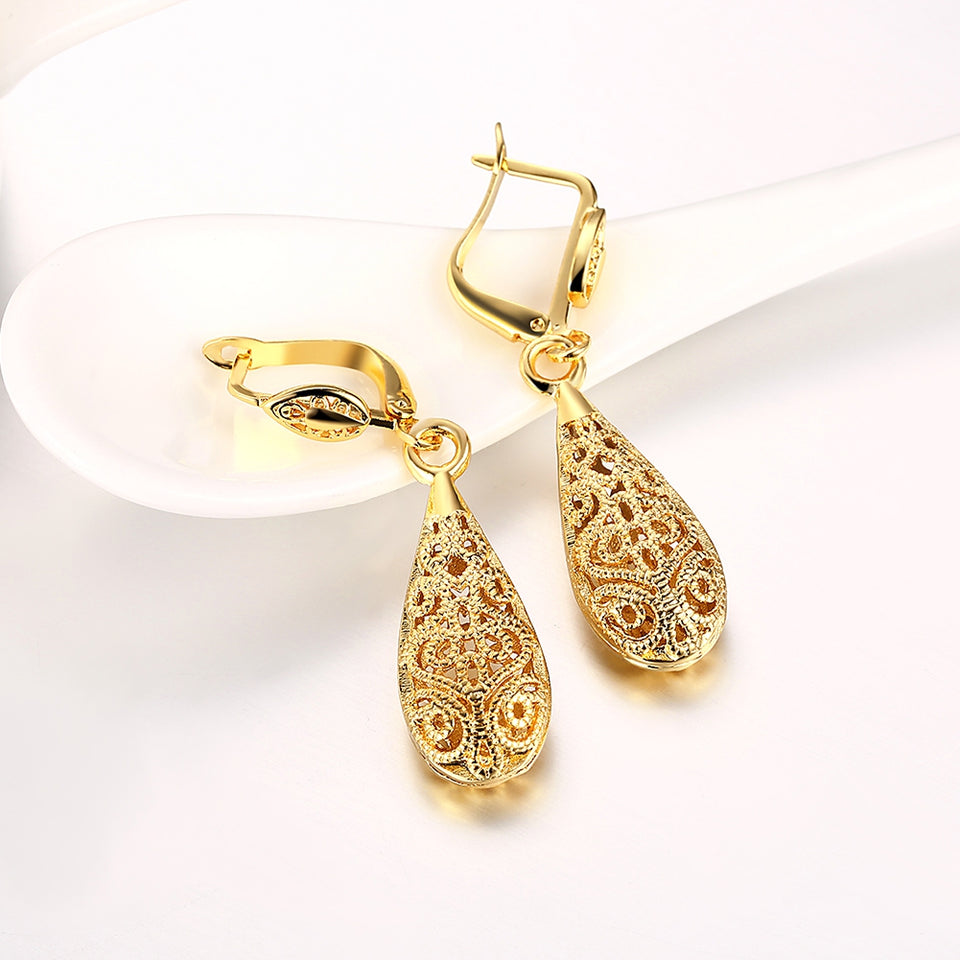 Eco-Friendly Gold Drop Earrings
