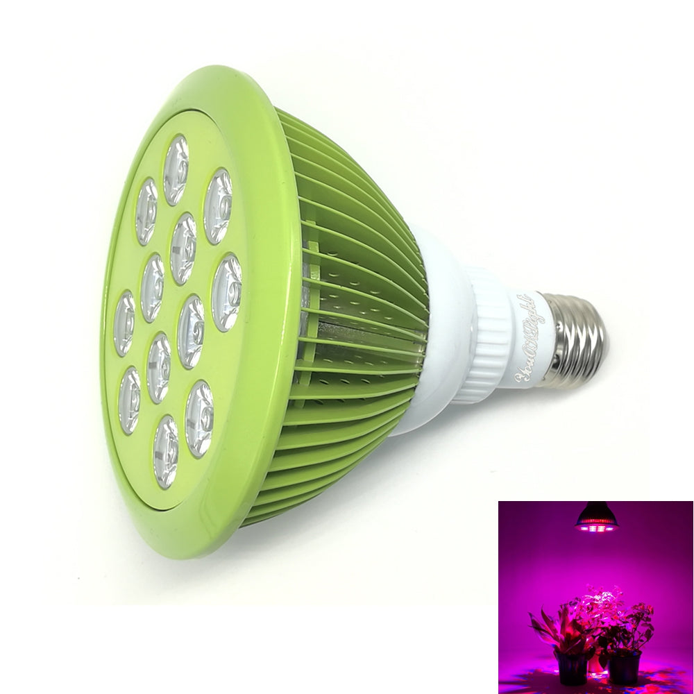 Youoklight 1PCS E27 24W Ac 85~265V 12 - Led Plant Grow Light - Mint Green