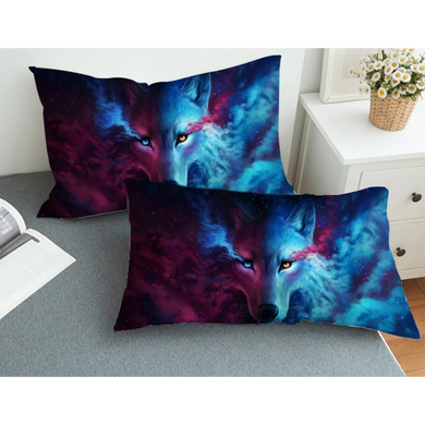 Wolf and Moon Pillow Case
