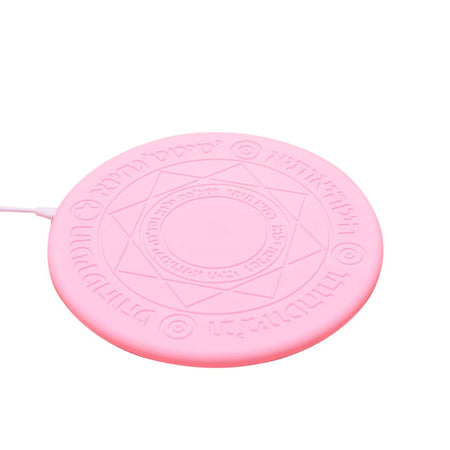 5W 10W Glowing Magic Array Universal Qi Fast Charging Wireless Charger for iPhone Charger Magic Array Wireless Charger