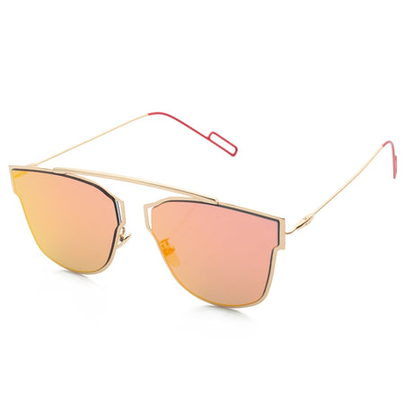 Fashion Coating Mirror Flat Panel Lens Design Sunglasses with Metal Frame