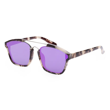 Stylish Colored Coating Fashion Street Snap Hipster Metal Women Sunglasses