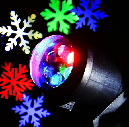 Lightme 110 - 240V 6W LED Waterproof Colorful Snowflake Light Landscape Projector Lamp