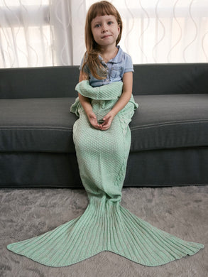 Keep Warm Crochet Knitting Mermaid Tail Style Blanket For Kids