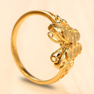 18K Electroplate Gold Color Butterfly Ring for Women